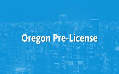 Oregon Real Estate Broker Pre-License Training