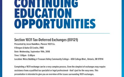 Section 1031 Tax-Deferred Exchanges
